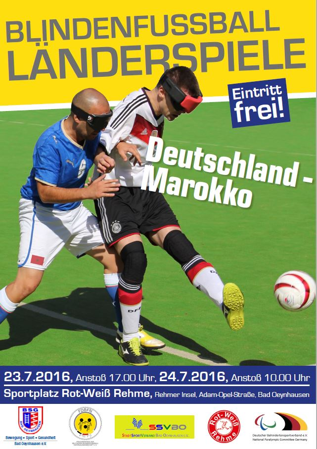 Plakat Blindenfussball